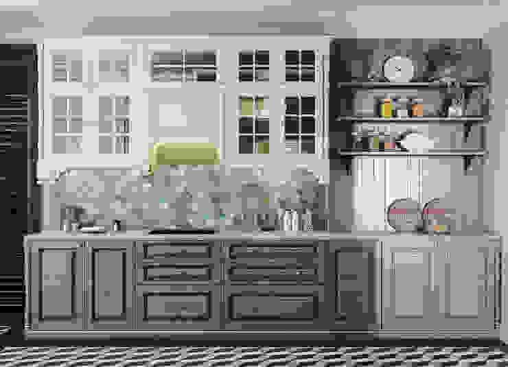 Colonial style – Tropic garden apartment Nhà bếp phong cách thực dân bởi V Design Studio Thực dân