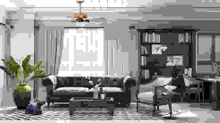 Colonial style – Tropic garden apartment Phòng khách phong cách thực dân bởi V Design Studio Thực dân