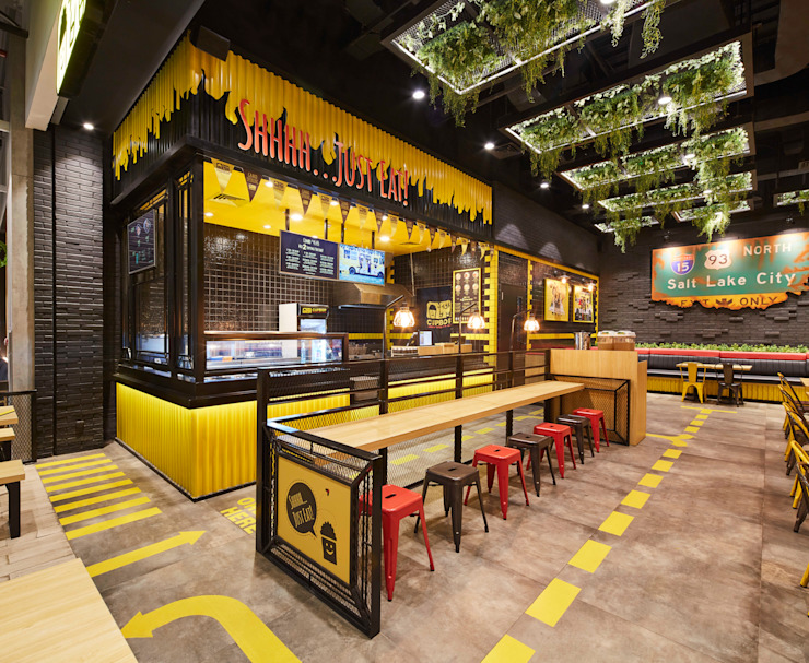 Restaurant Interior Design View Gastronomi Gaya Industrial Oleh High Street Industrial
