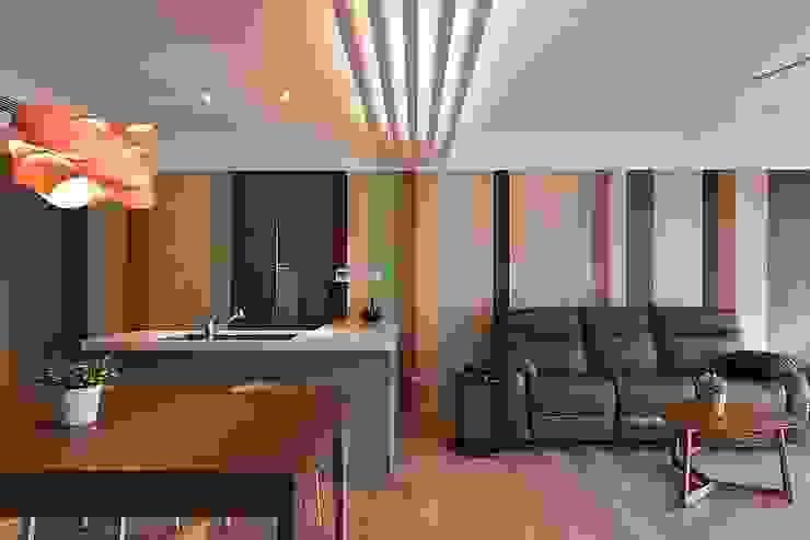 客餐廳 禾光室內裝修設計 ─ Her Guang Design 现代客厅設計點子、靈感 & 圖片