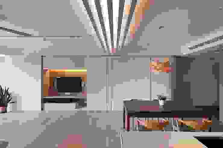 電視牆設計 禾光室內裝修設計 ─ Her Guang Design 现代客厅設計點子、靈感 & 圖片