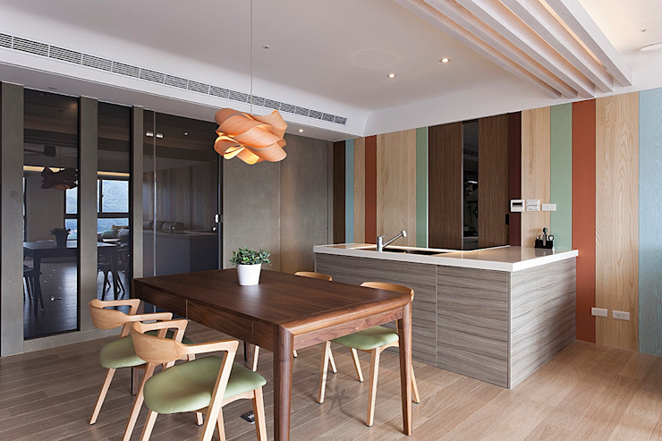 Comedores de estilo moderno de 禾光室內裝修設計 ─ Her Guang Design Moderno