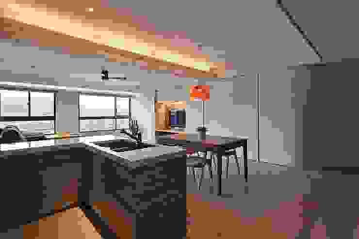 餐廚空間 禾光室內裝修設計 ─ Her Guang Design 現代廚房設計點子、靈感&圖片