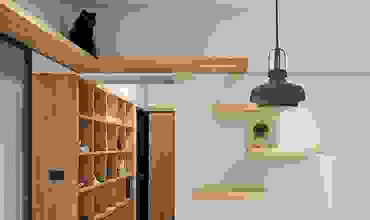 貓道設計 斯堪的納維亞風格的走廊,走廊和樓梯 根據 禾光室內裝修設計 ─ Her Guang Design 北歐風