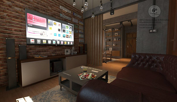 sixty interior design & renovation Eclectic style media room