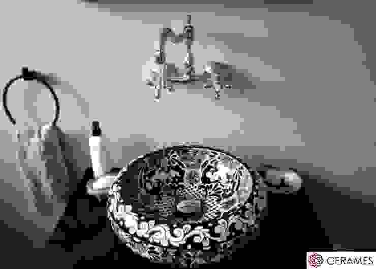 Meksykańska umywalka wizytówką nowoczesnej łazienki: styl , w kategorii Łazienka zaprojektowany przez Cerames,