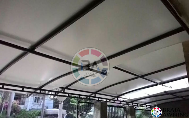 modern  by Braja Awning & Canopy, Modern Textile Amber/Gold