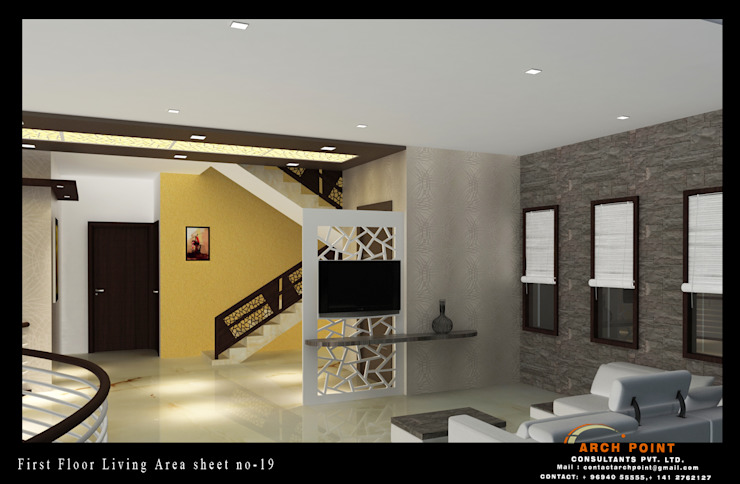Living Space Modern Living Room by Arch Point Modern