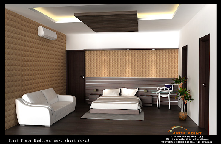 Bedroom:  Bedroom by Arch Point
