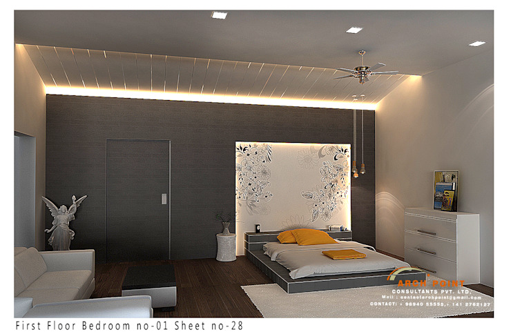 Bedroom Space Design:  Bedroom by Arch Point