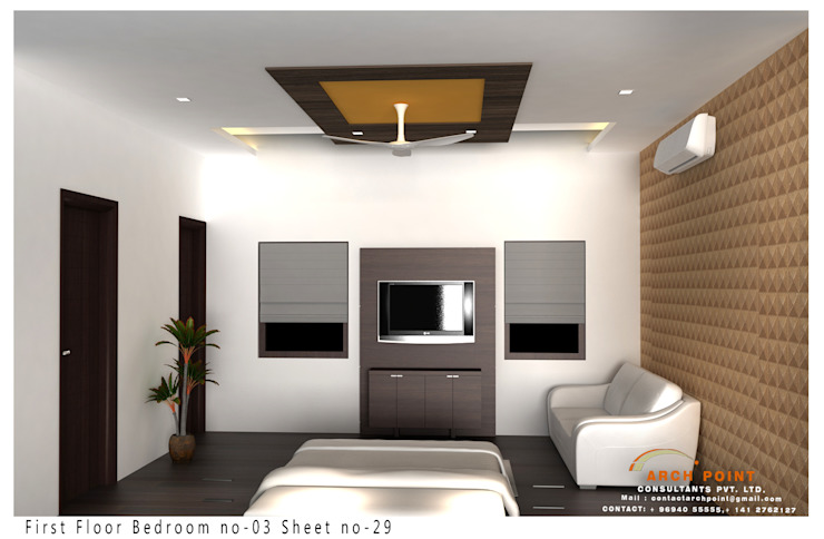 Bedroom Design:  Bedroom by Arch Point