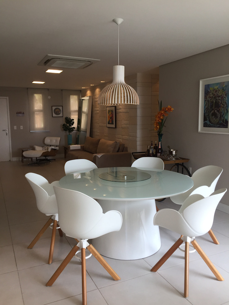 Casa de Praia Modern Dining Room by brunadiogenes.liviafeitosa Modern