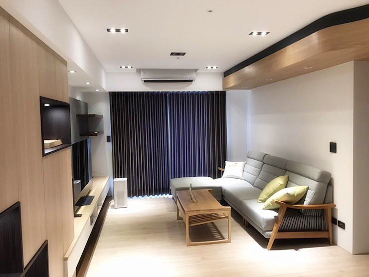 modern  by 解構室內設計, Modern Solid Wood Multicolored