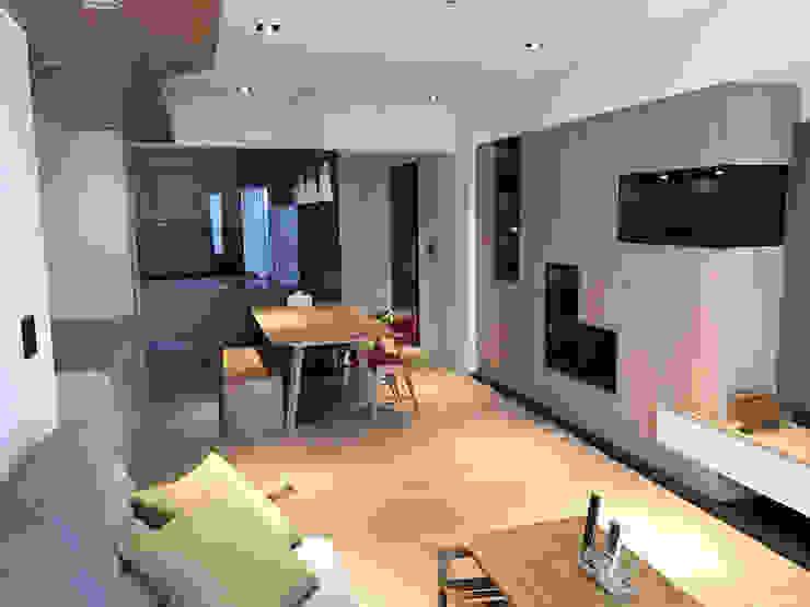 Espacios comerciales de estilo moderno de 解構室內設計 Moderno Vidrio