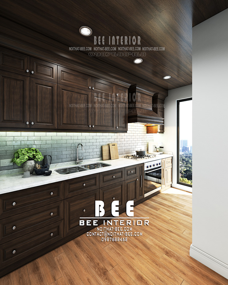Góc phòng bếp: cổ điển  by Nội thất Bee, Kinh điển