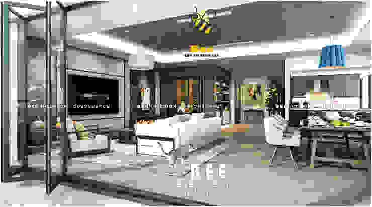 Góc phòng khách: hiện đại  by Nội thất Bee, Hiện đại