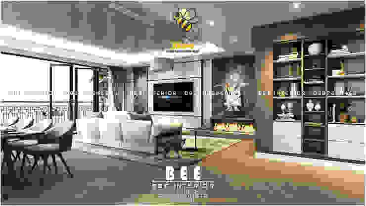 Góc phòng khách: hiện đại  by Nội thất Bee, Hiện đại Đồng / Đồng / Đồng thau