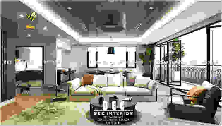 Góc sofa: hiện đại  by Nội thất Bee, Hiện đại Đồng / Đồng / Đồng thau