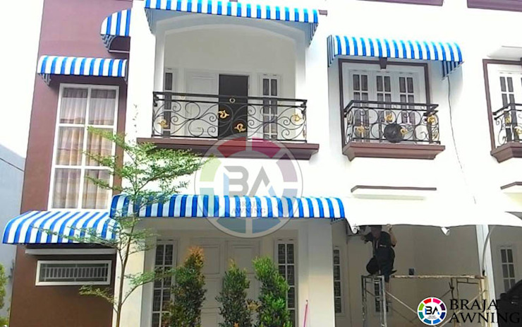 country  by Braja Awning & Canopy, Country Textile Amber/Gold