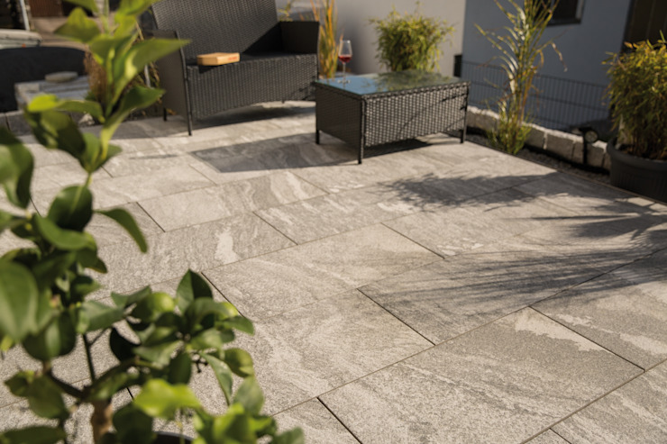 Vivace Terrasse Emperor Outdoor Ceramics Klassischer Balkon, Veranda & Terrasse Fliesen Grau