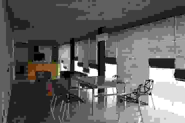 XXStudio Minimalist dining room Concrete Grey