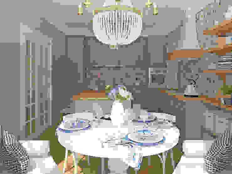 Phòng ăn phong cách đồng quê bởi Tamriko Interior Design Studio Đồng quê