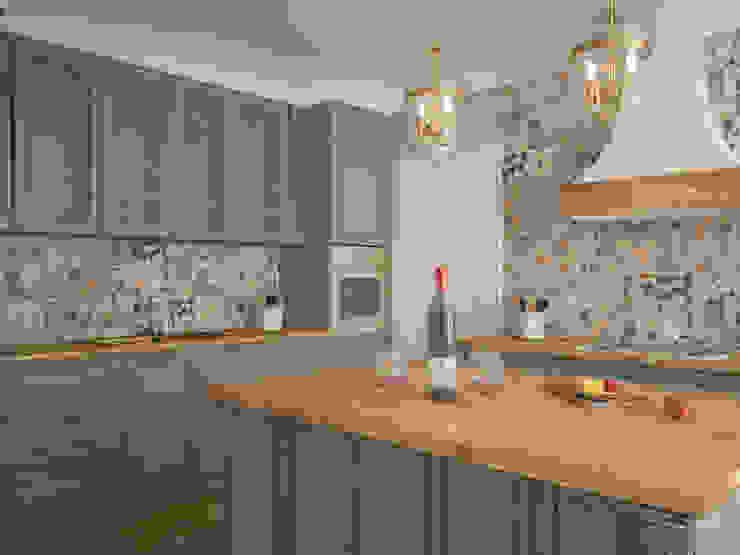 Nhà bếp phong cách đồng quê bởi Tamriko Interior Design Studio Đồng quê