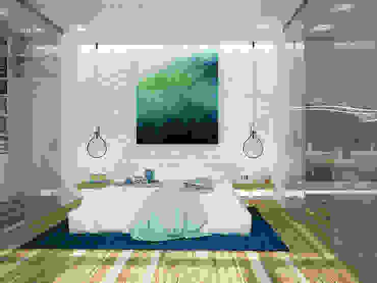 Phòng ngủ phong cách tối giản bởi Tamriko Interior Design Studio Tối giản