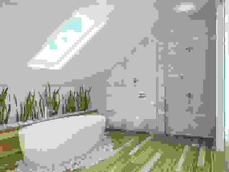 Phòng tắm phong cách tối giản bởi Tamriko Interior Design Studio Tối giản