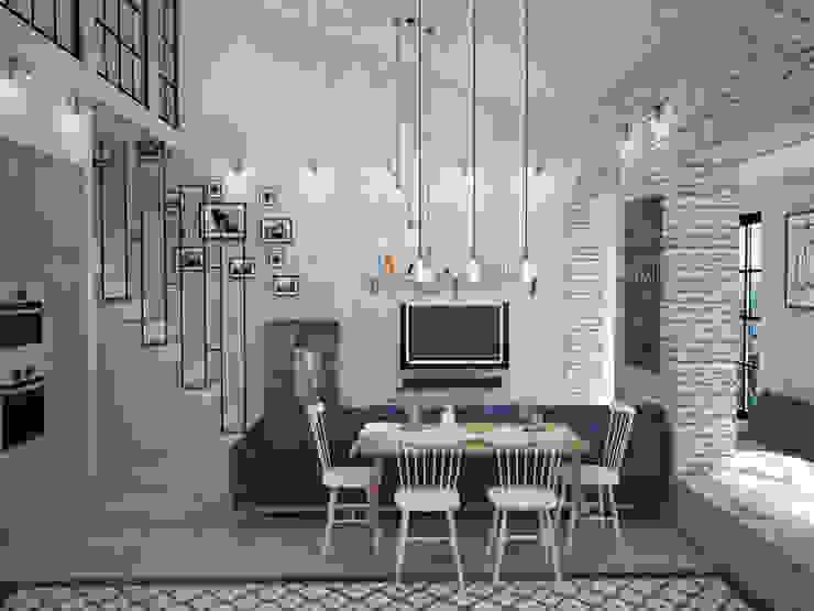 Phòng khách theo Tamriko Interior Design Studio,