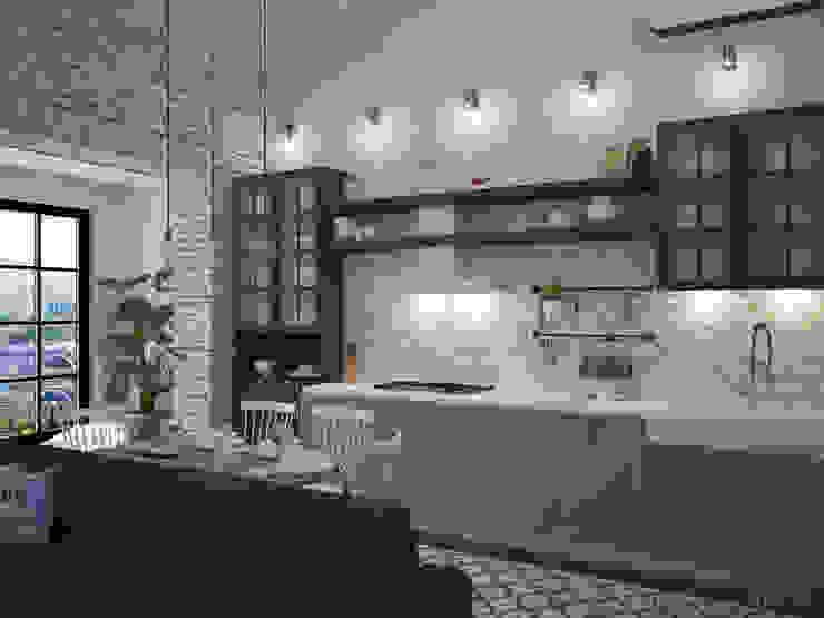 Loft Interior Design by Tamriko Interior Design Studio Industrial