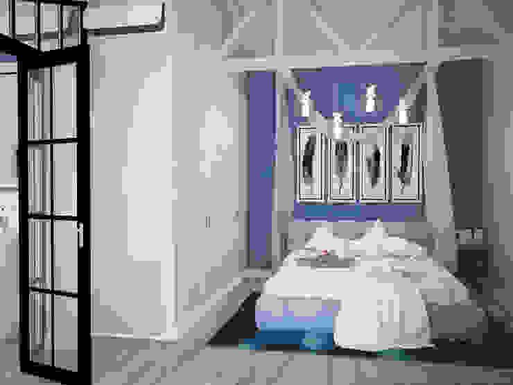 Dormitorios de estilo industrial de Tamriko Interior Design Studio Industrial