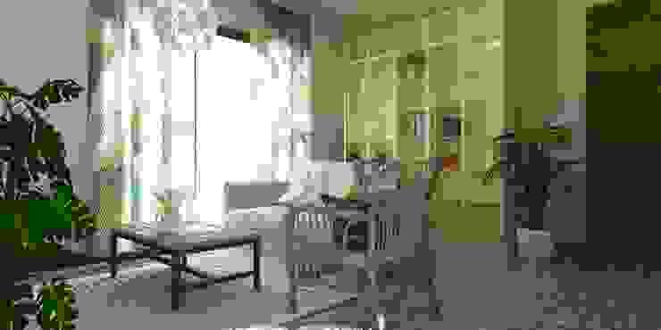 Гостиная в тропическом стиле от SAMANTHA PASTRELLO INTERIOR DESIGN Тропический