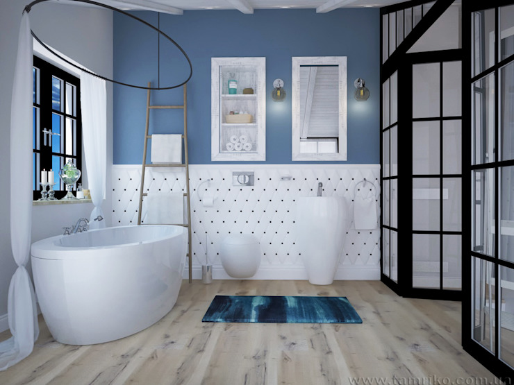 Loft Interior Design Industrial style bathroom by Tamriko Interior Design Studio Industrial