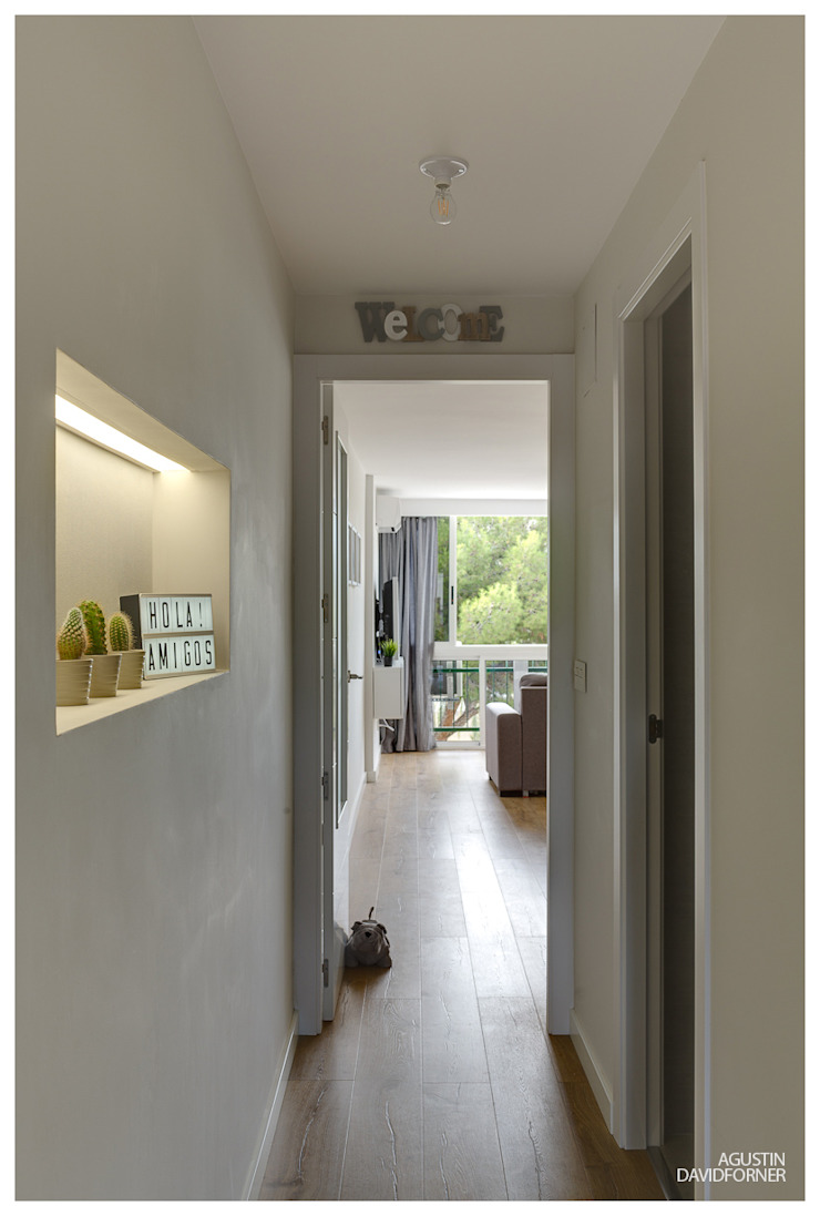 AGUSTIN DAVID PHOTOGRAPHY 現代風玄關、走廊與階梯