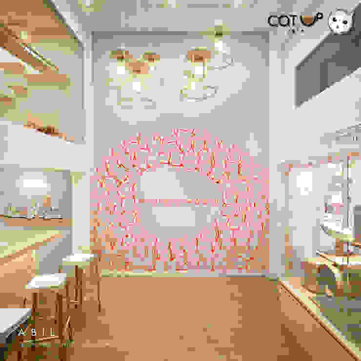 บรรยากาศชั้นล่างของ Cat Up Cafe' (แคทอัพ คาเฟ่) โดย Abilmente Co.,Ltd มินิมัล