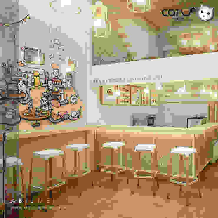 มุมสบายๆ ชิวๆ กับ เคาน์เตอร์บาร์ โดย Abilmente Co.,Ltd มินิมัล