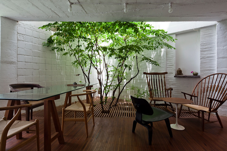 a21house Vườn phong cách hiện đại bởi a21studĩo Hiện đại