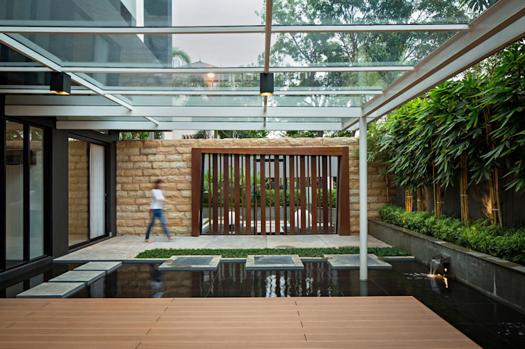 Modern style gardens by DP+HS Architects Modern