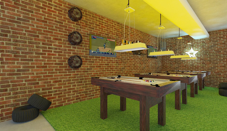 Sports Bar interiors by Antar - A Firm of Interior Designers
