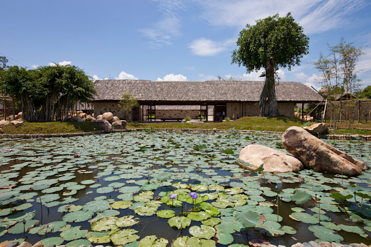 i-resort Vườn phong cách hiện đại bởi a21studĩo Hiện đại