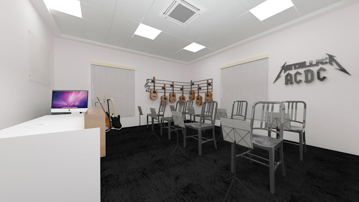 Guitar Room by Antar - A Firm of Interior Designers
