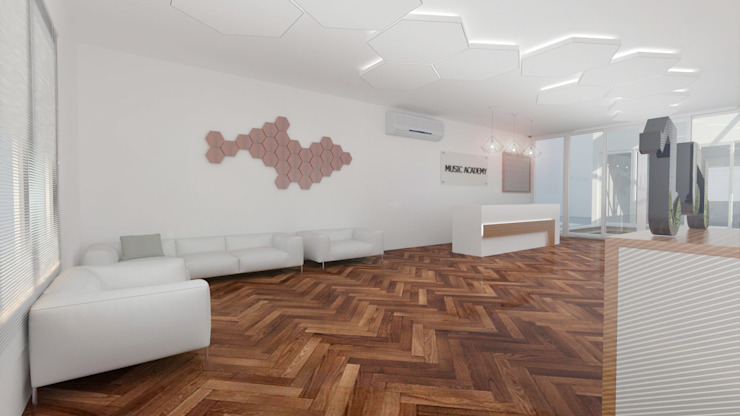 Reception Area by Antar - A Firm of Interior Designers