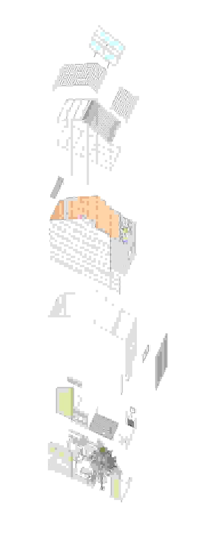 3x9 house: hiện đại  by a21studĩo, Hiện đại
