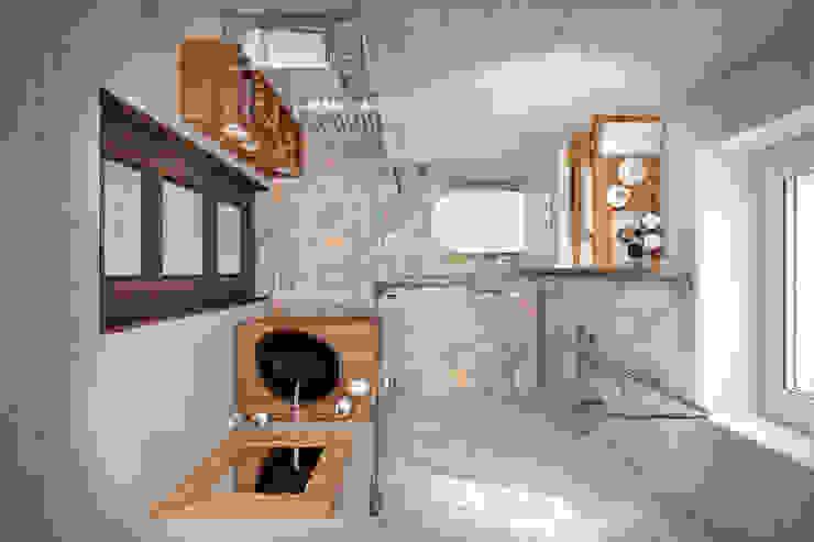 Квартира 79 кв.м. в стиле эклектика ЖК Пресненский вал Ванная комната в эклектичном стиле от Студия архитектуры и дизайна Дарьи Ельниковой Эклектичный