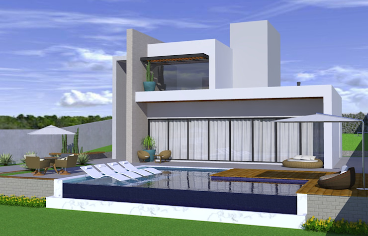 CASA CAMPELO Casas modernas por ARQUITETURA NOVA Moderno