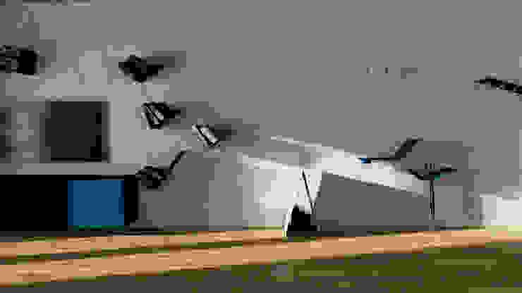 ESTRO -parete modulare Soggiorno moderno di Chendù Moderno Ferro / Acciaio