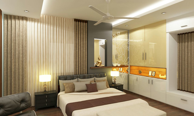 Mr. Arun reddy Home Interior Design Asian style bedroom by Walls Asia Architects and Engineers Asian Wood Wood effect