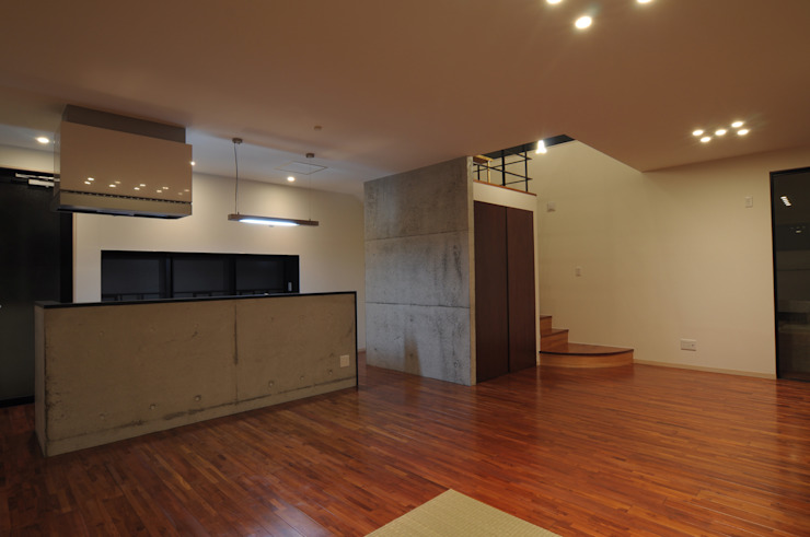 hacototo design room Modern Living Room Wood Wood effect