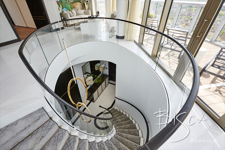 Designer Marble Staircase de Bisca Staircases Minimalista Piedra